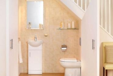 Một số thiết kế phòng tắm tiện nghi dưới cầu thang